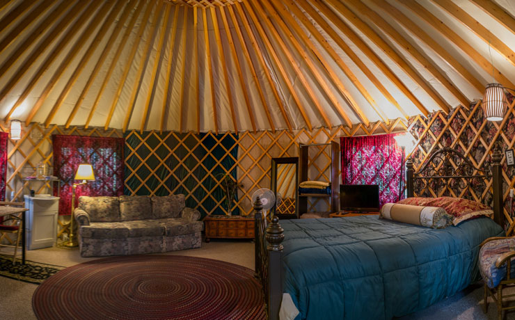 Inside the Yurt